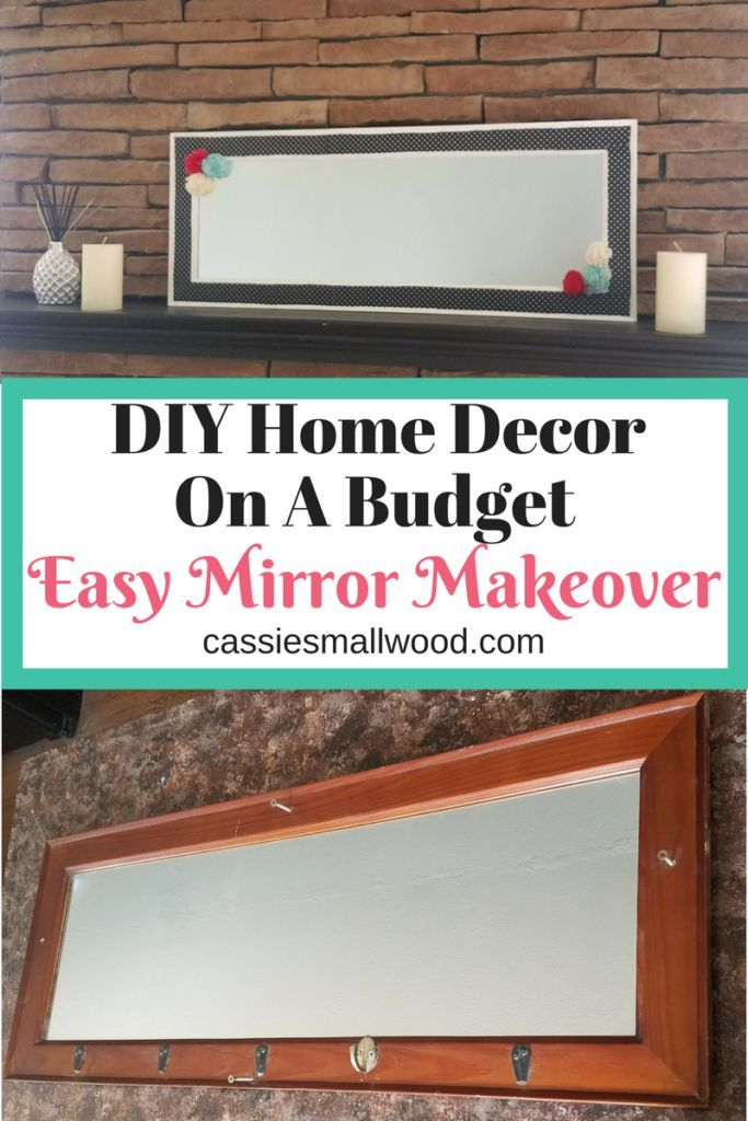 How To Reuse An Old Mirror | Mirror makeover, Reuse and Paint fabric