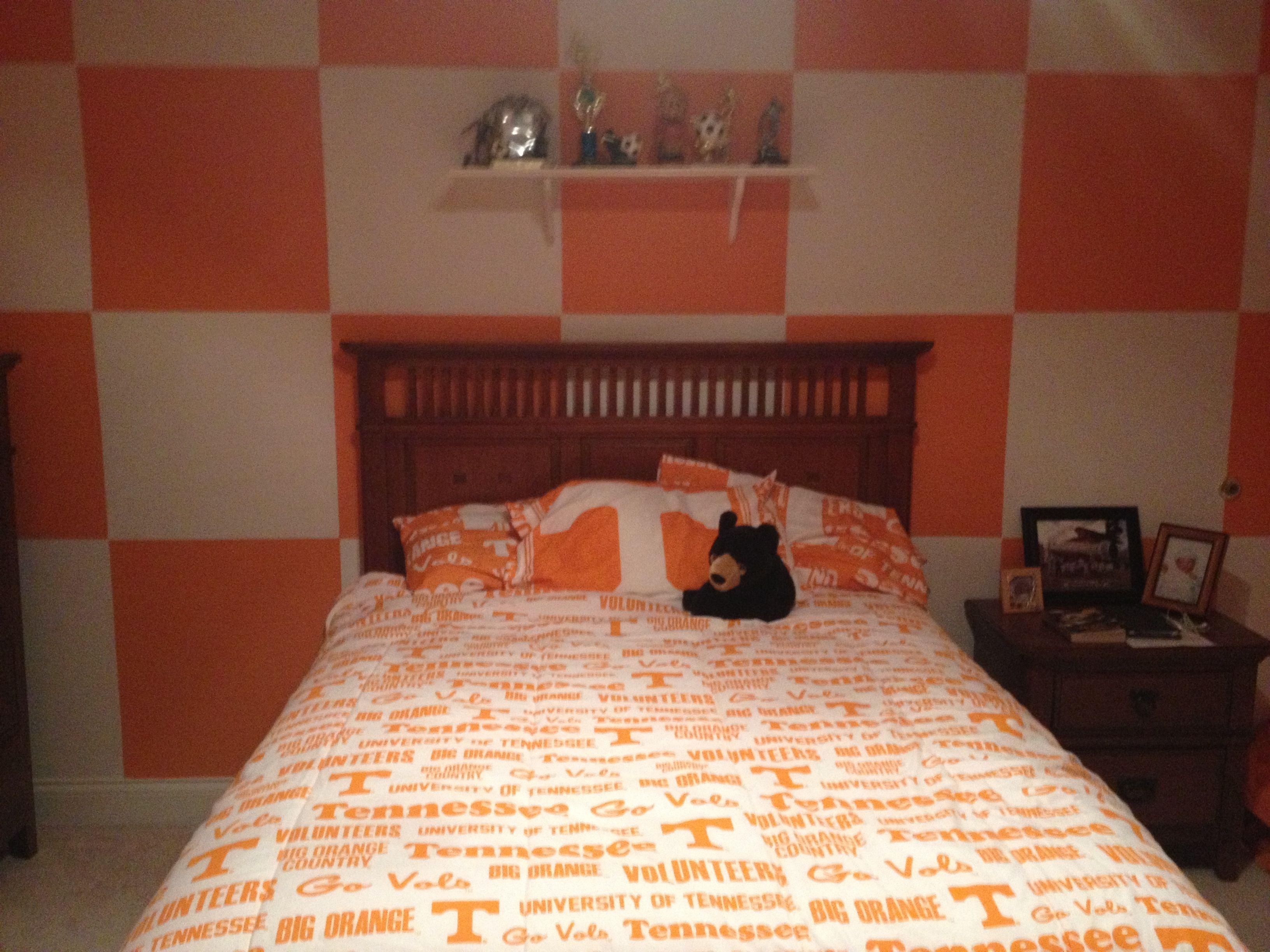 University Of Tennessee Boy S Room Dorm Room Designs Kids Room Paint Classy Decor