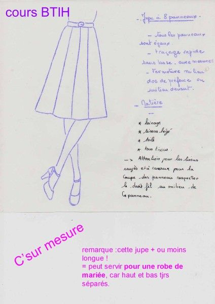 8 Jupe BtihJupe PanneauxPatron Couture Cours Astuce mwN0v8n