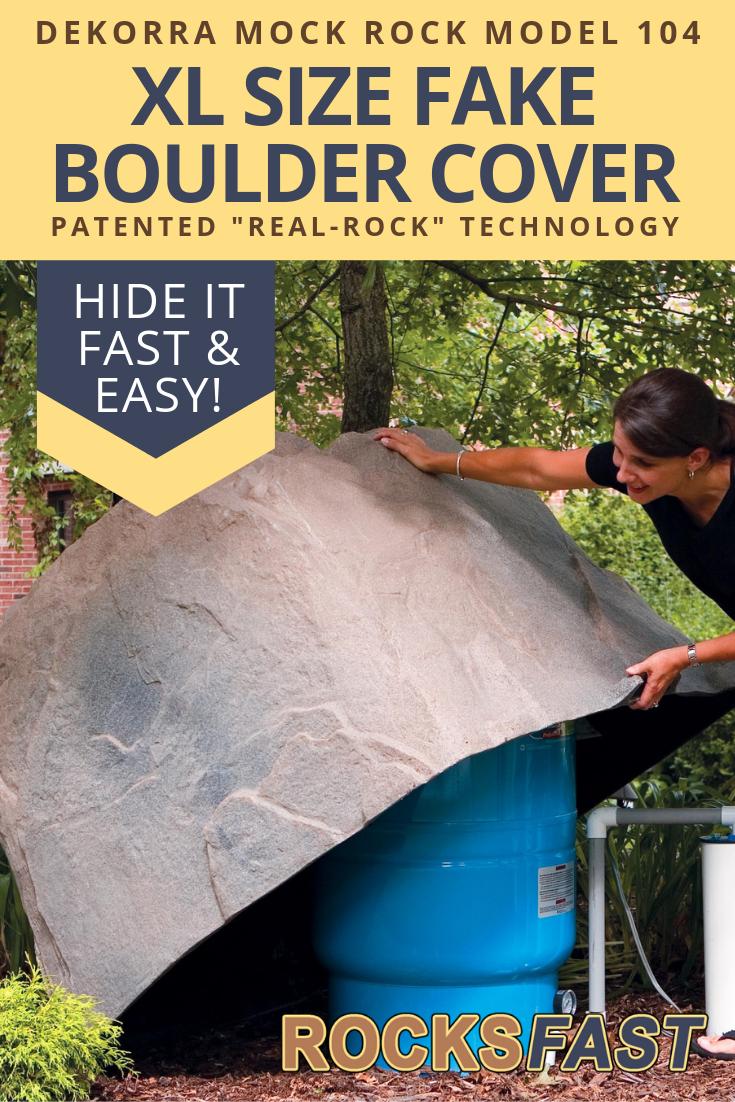 Dekorra Mock Rock Model 104 Fake Boulder Cover Well Pump Cover Fake Rock Covers Well Tank