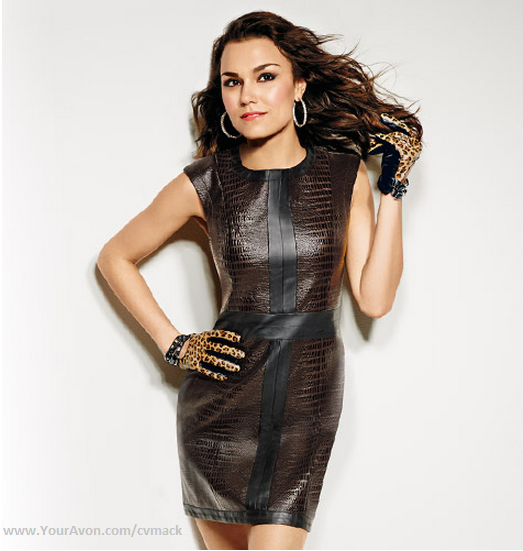 Samantha Barks wearing mark. Don't Mess with This Dress