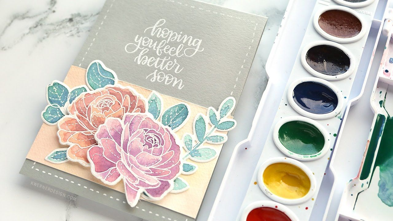 Cardmaking Video Tutorial Mixing Custom Colors For Watercolor