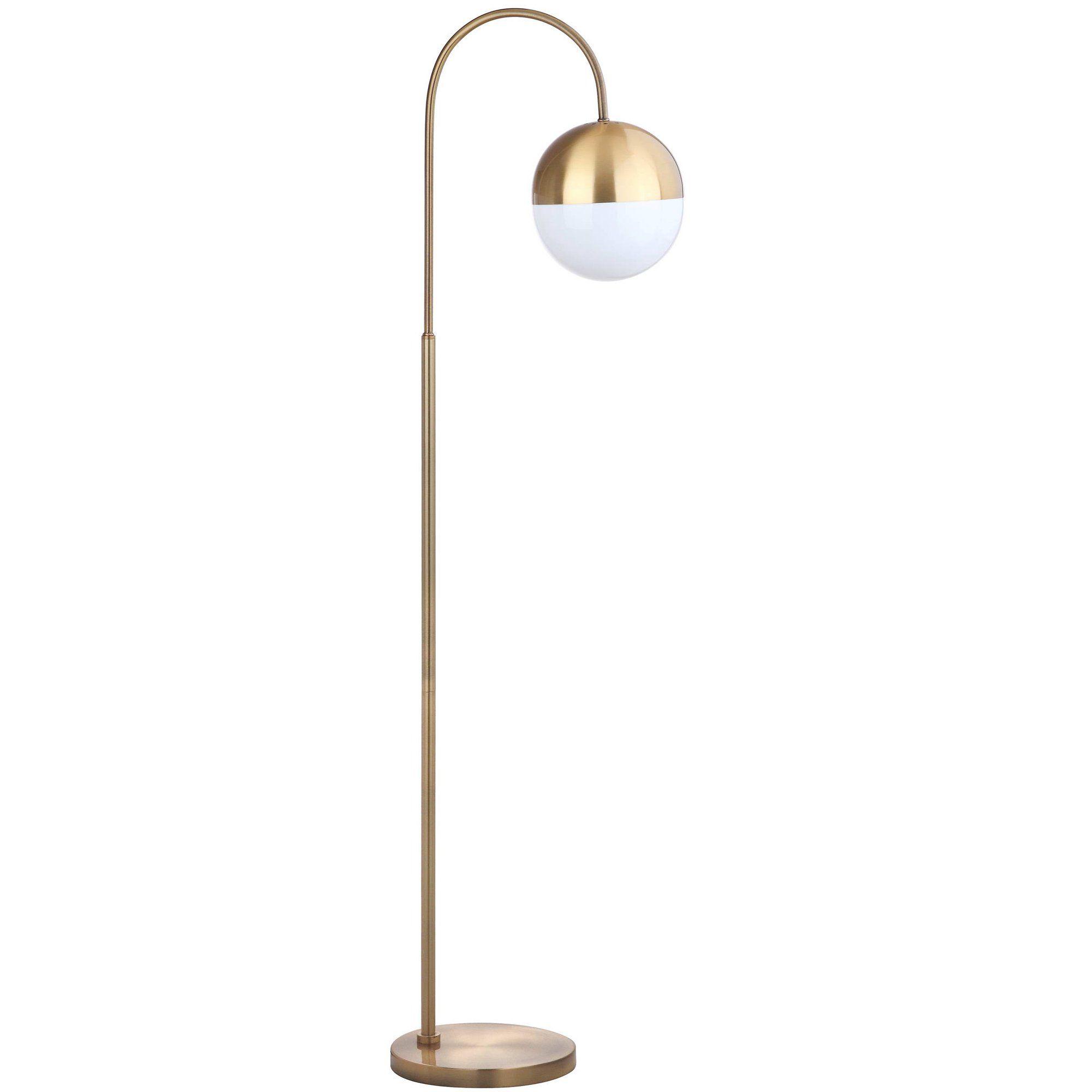 Safavieh Jonas 55 5 In H Modern Glam Curved Floor Lamp Brass Gold Walmart Com In 2020 Gold Floor Lamp Arched Floor Lamp Curved Floor Lamp