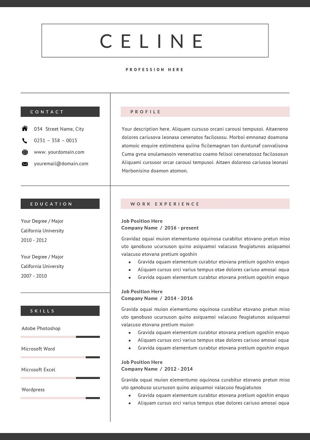 Pin by voguish venom. on imgs +more Cv template, Resume