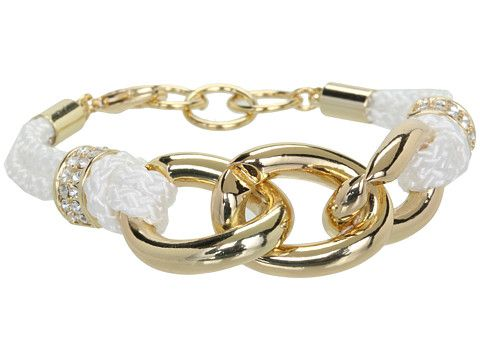GUESS Knotted Cord and Chain Link Bracelet