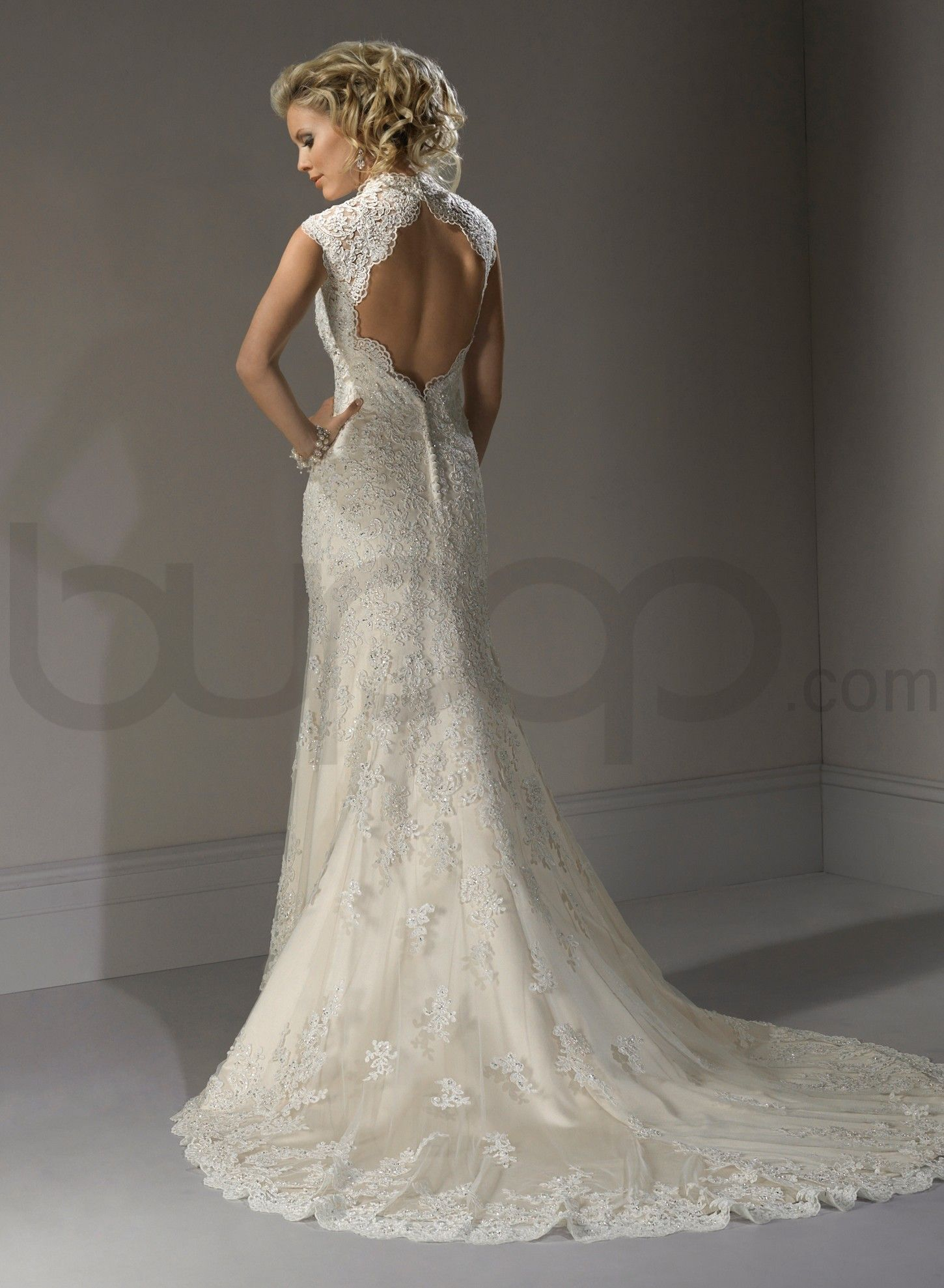 Lace Sweetheart Neckline A Line Wedding Dress