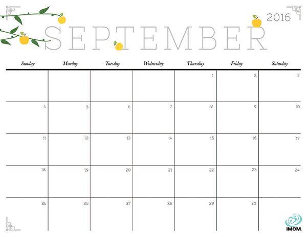 Cute and Crafty 2018 Calendar Printable calendars, September and - printable calendar sample