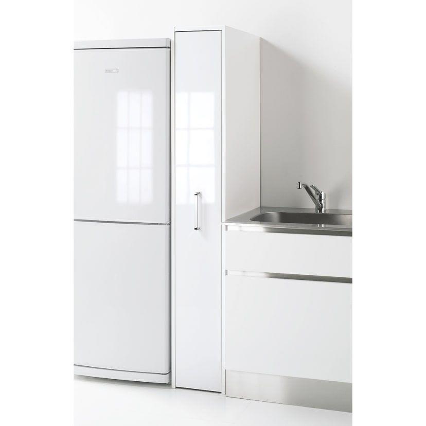 サッと隠して ホコリもガード ボックス付きキッチンすき間収納庫 幅29 奥行58cm 通販 ディノス キッチン 収納 狭い キッチン