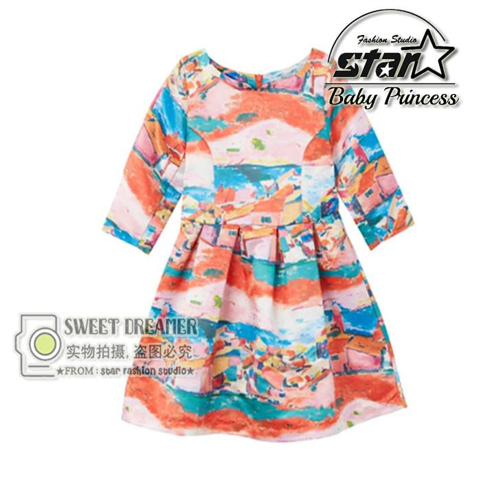 to Buy Girls Dresses Summer Style Print Cotton Floral