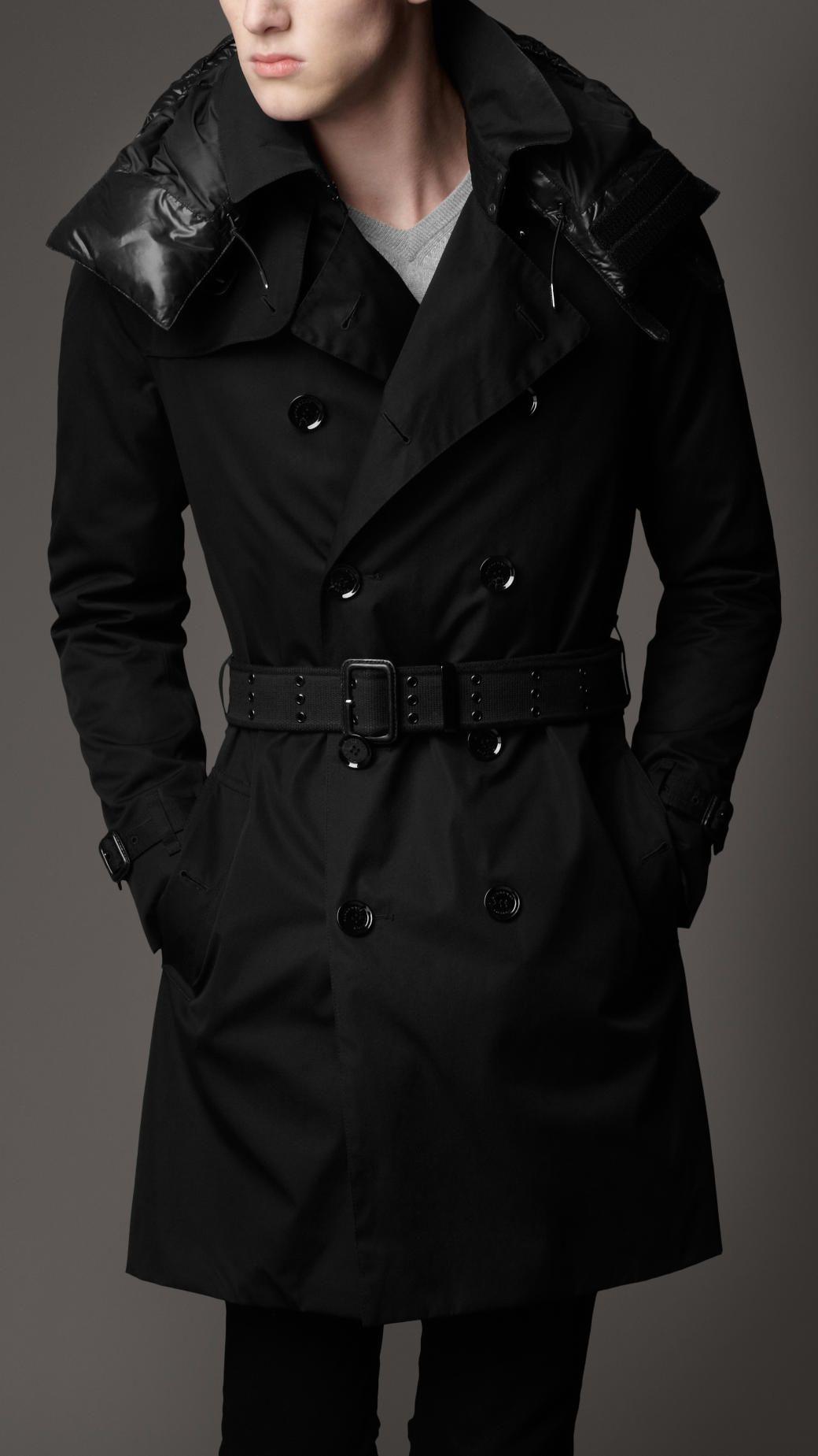 Burberry London men's quilted hood trench coat | Sasuke Stuff ...