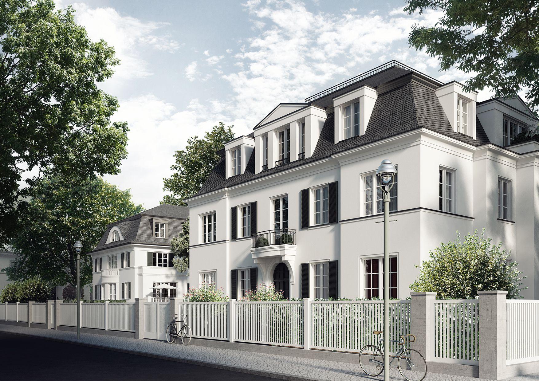 zwei villen in zehlendorf klassische stadtvilla pinterest villa architektur und fassaden. Black Bedroom Furniture Sets. Home Design Ideas