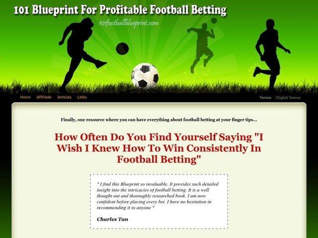 101 blueprint for profitable football betting betting 2000 guineas news
