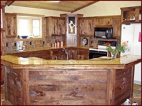 Handmade Solid Wood Rustic Style Cabinetry Minnesota Wyoming