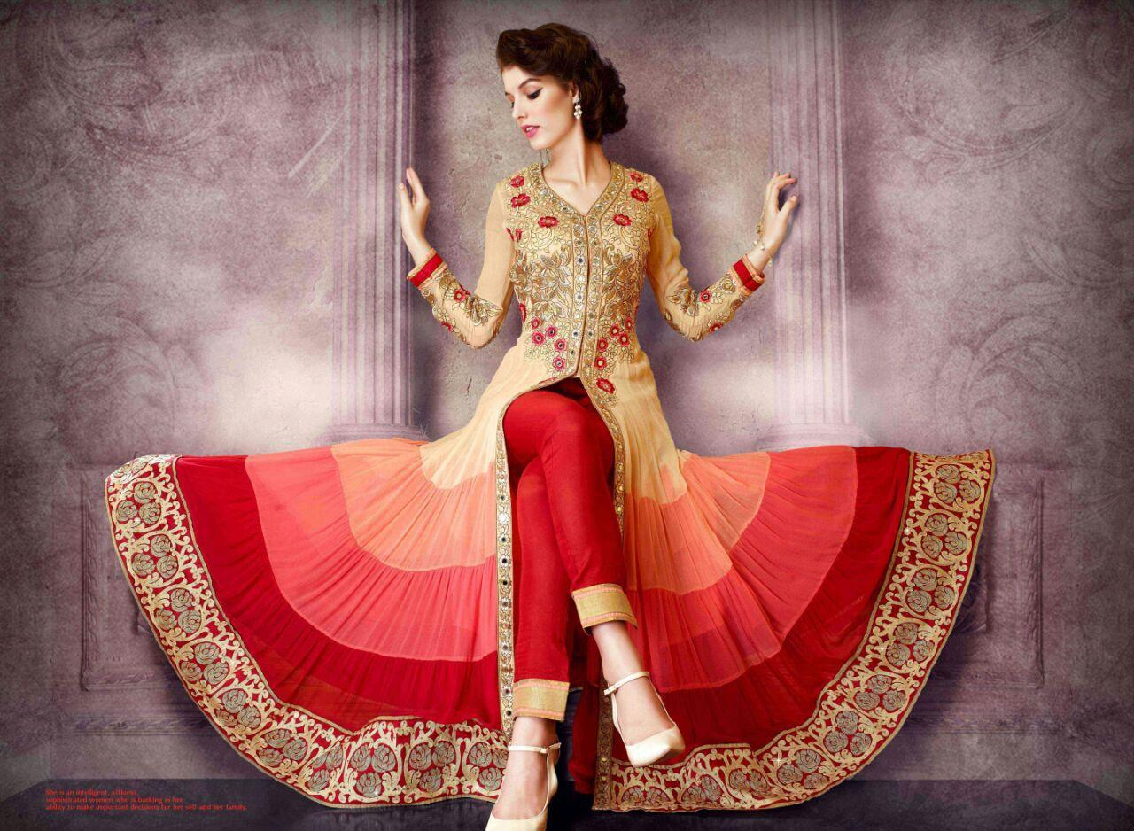 Image result for front slit indian fashion trend