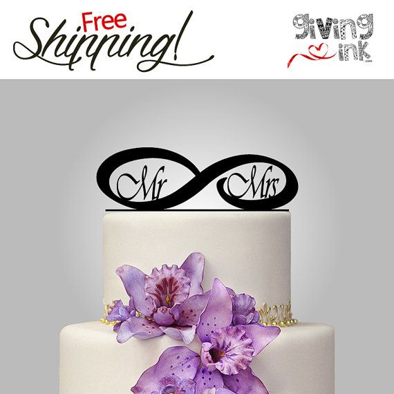 infinity wedding cake topper infinity mr and mrs cake topper personalized wedding cake 16447
