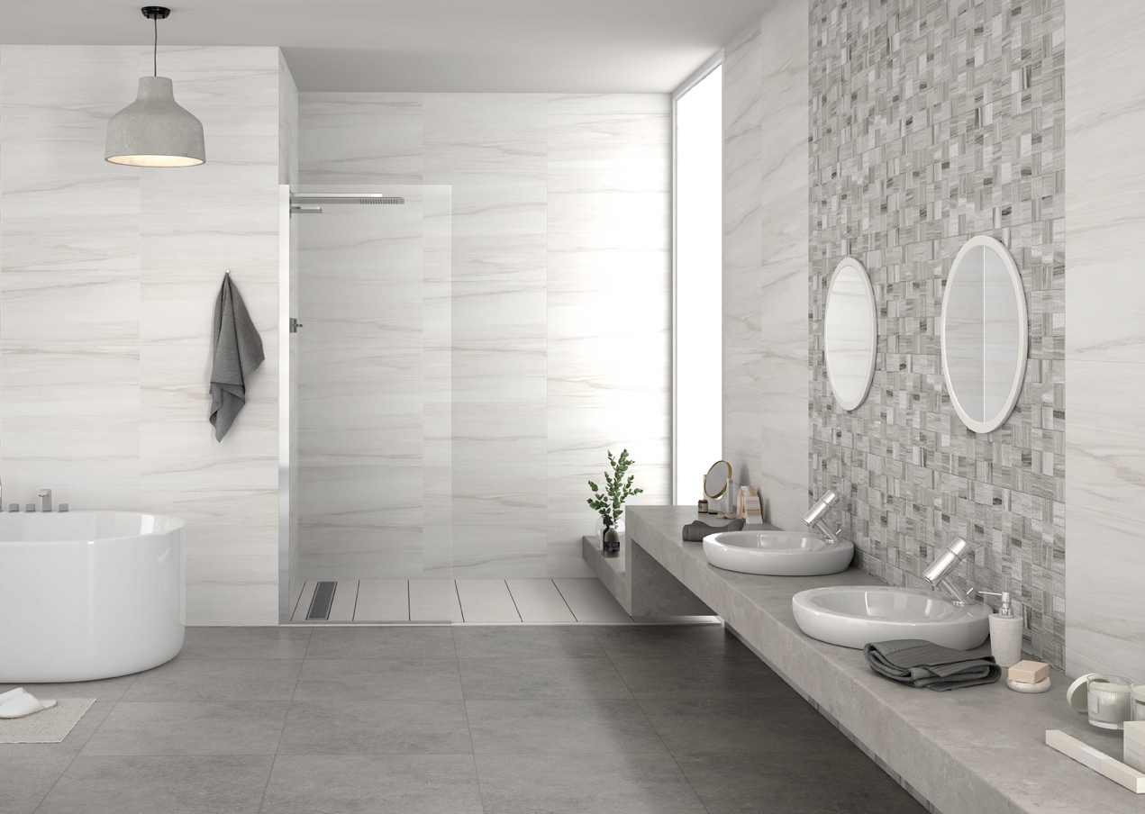 HDC Cement look tegel Ontario Hudson nodig voor je badkamer ...