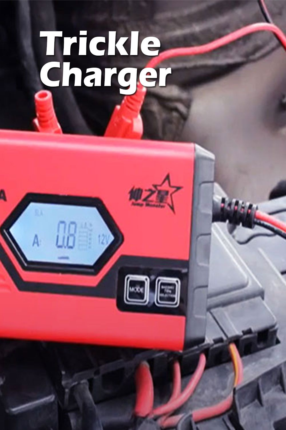 How To Charge A Car Battery With A Trickle Charger Battery Charger Car Battery Charger Charger