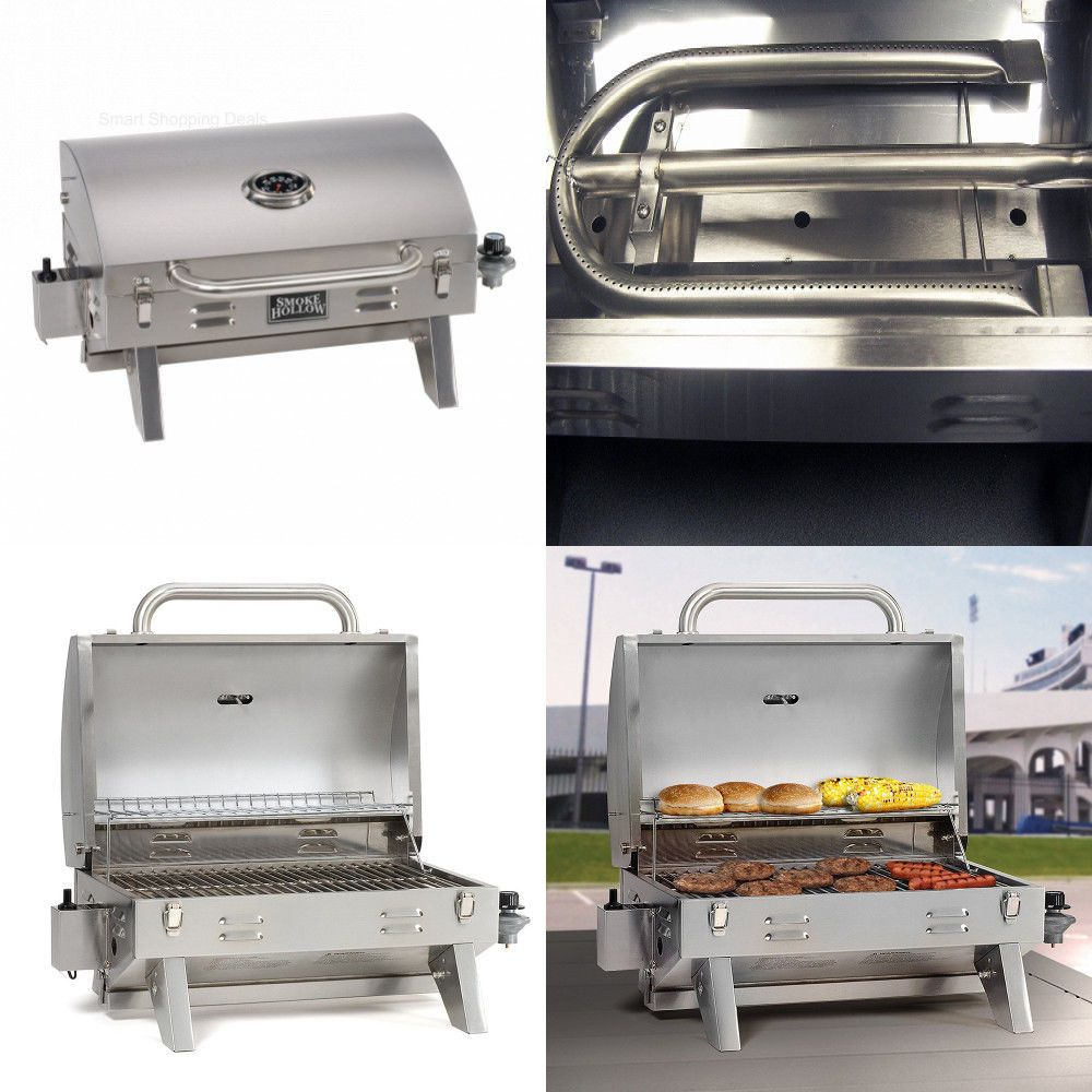 Stainless Steel Tabletop Propane Gas Grill Garden Tabletop Grills Outdoor Bbq Smokehollow Gas Grill Propane Gas Grill Gourmet Bbq
