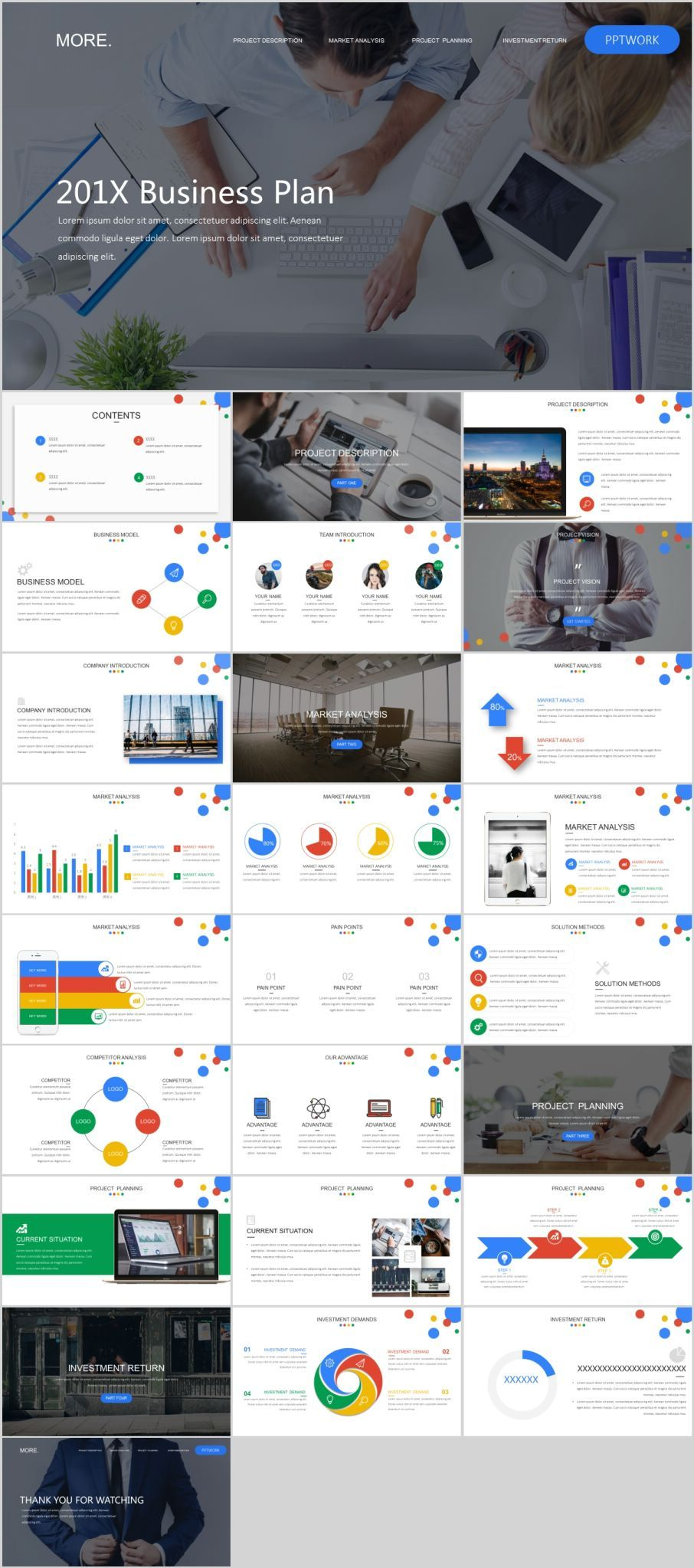 26 multicolor Business plan PowerPoint templatesThe highest quality PowerPoint Templates and Keynote Templates download