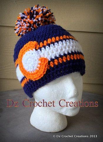 Crochet Denver Broncos Colorado Flag Inspired By