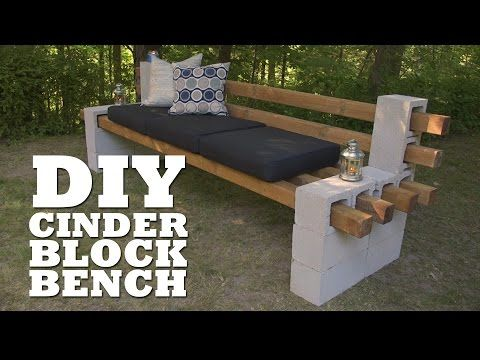 Cinder block bench seat video instructions cinder for Cinder block seating area