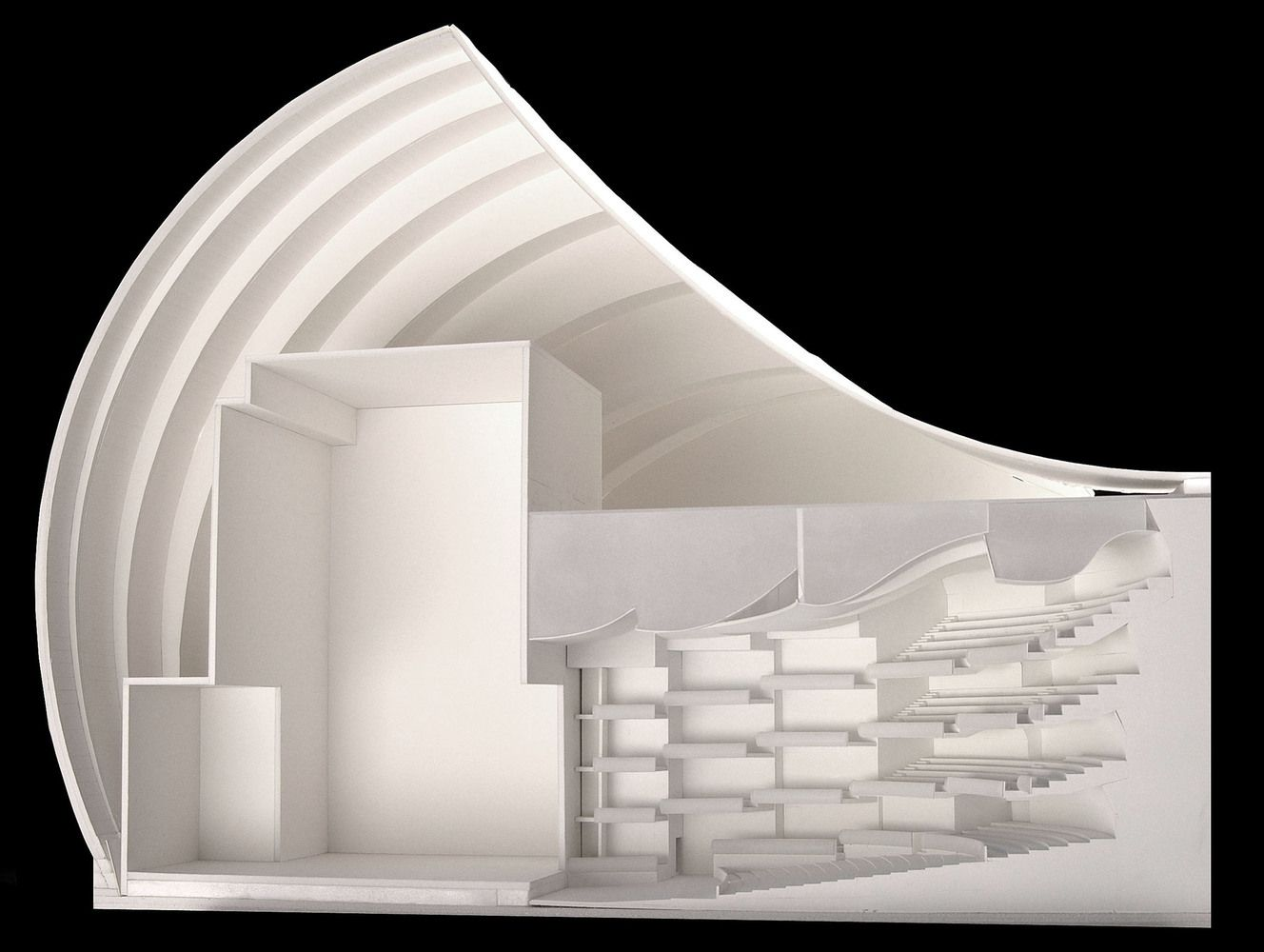 Gallery Of Kauffman Center For The Performing Arts Safdie Architects 1 Concert Hall Architecture Architecture Design Arch Model