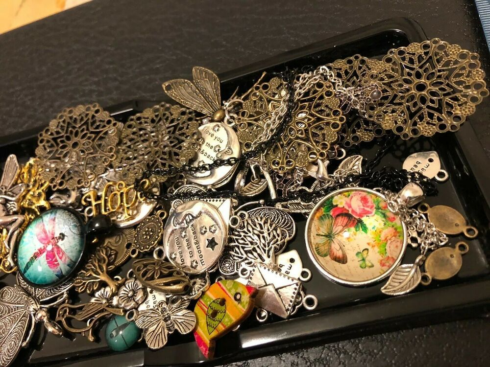 Jewelry making supplies pendants charms birds butterfly