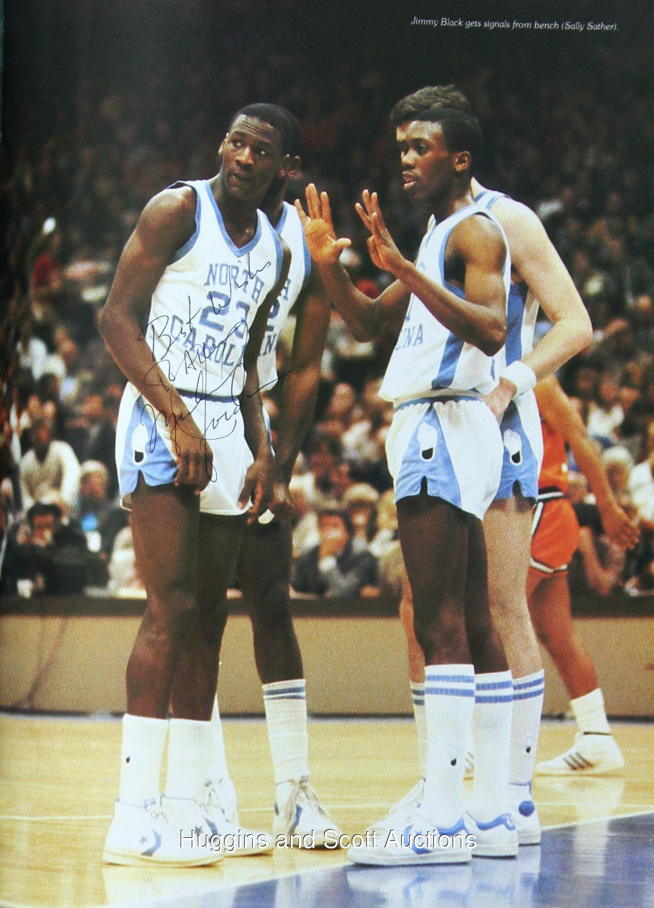 big sale b33d9 6da43 Michael Jordan & Jimmy Black | Carolina Blue | College hoops ...