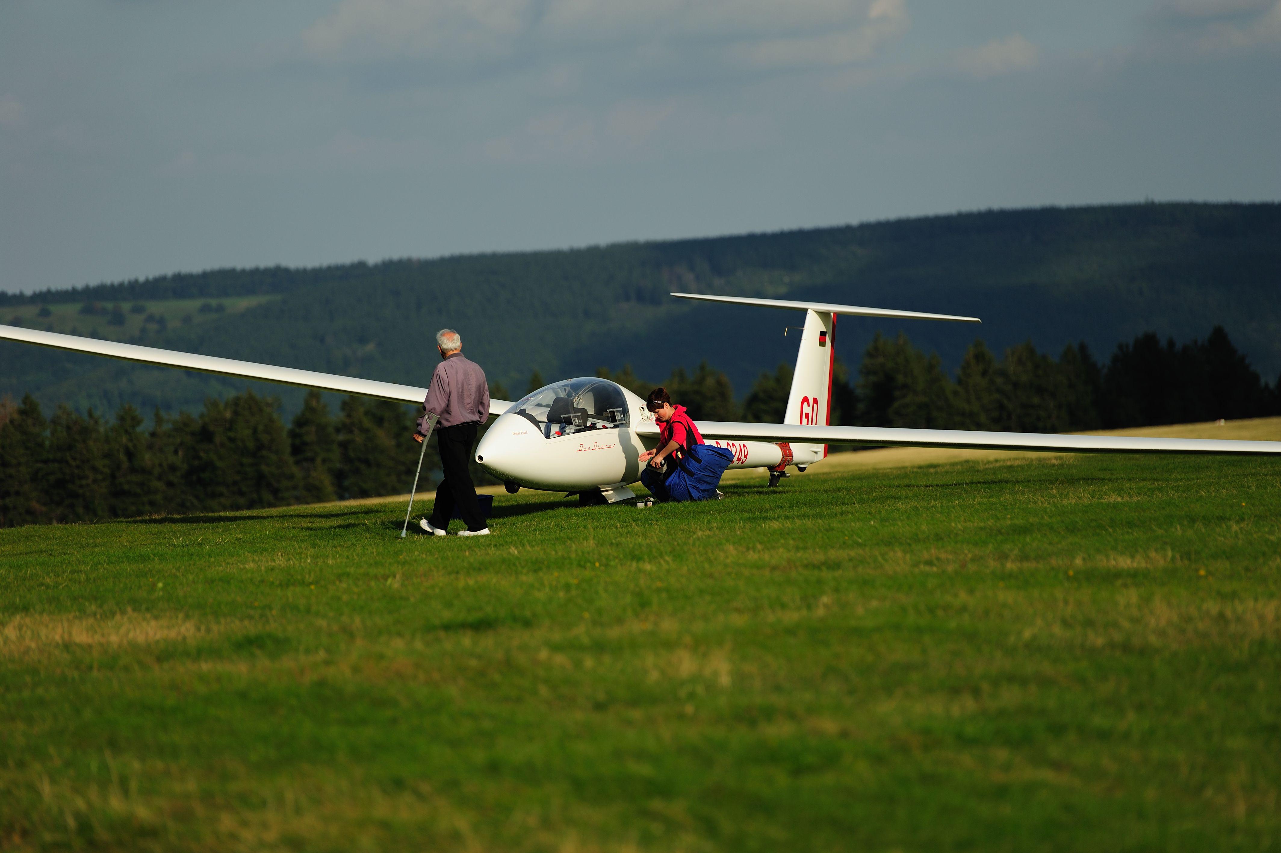 Segelflugzeug Wasserkuppe Rhon De Glider Wasserkuppe