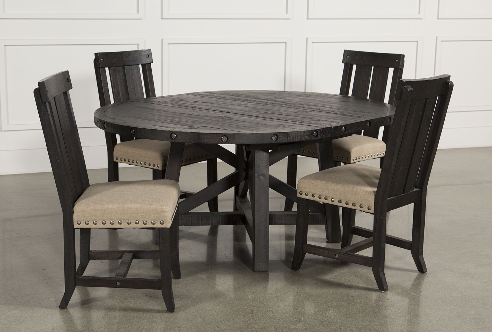 8dc6ea26c5 Jaxon 5 Piece Extension Round Dining Set W/Wood Chairs | Products ...