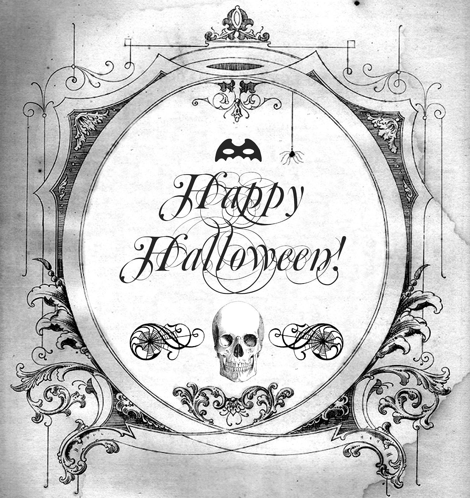 Anythingat Thr End Of Halloween 2020 Halloween FREE PRINTABLE for transfers prints tags anything at all