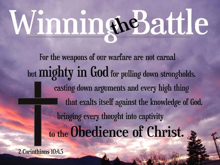 Image result for 2nd Corinthians 10:4-5 kjv
