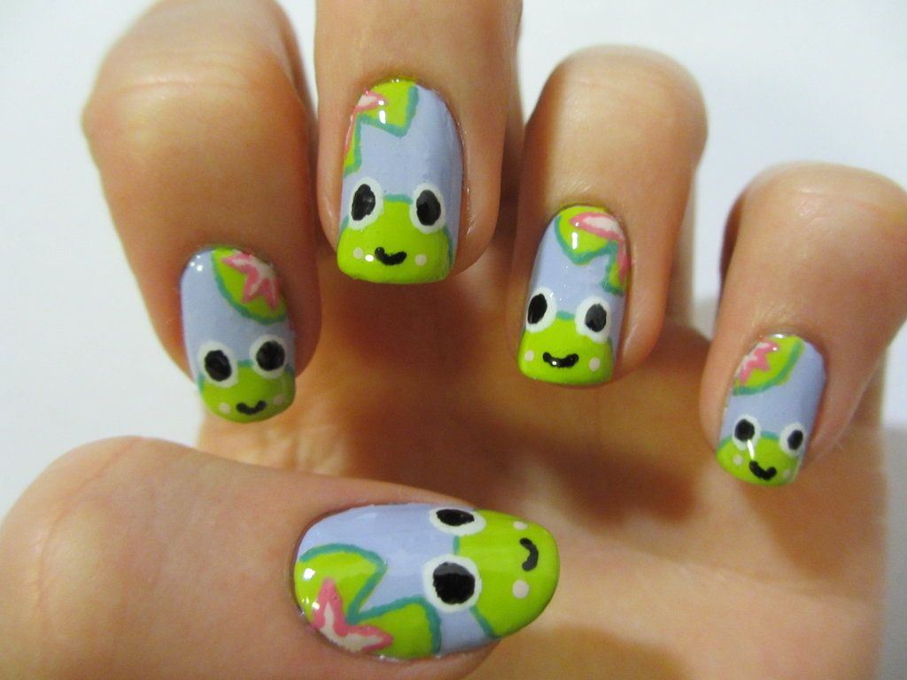 Happy Frog Nails by ~JofoKitty on deviantART | Just Nails ...