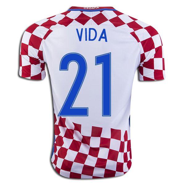 7cd1f1892 Domagoj Vida 21 2018 Fifa World Cup Croatia Home Soccer Jersey ...