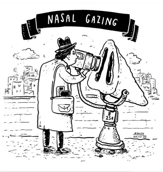 James Braithwaite's NEW web comic - Nasal Gazing!  http://nasalgazing.tumblr.com/  #illustration #comic