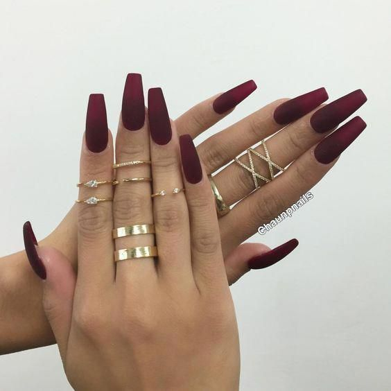 35+ Stylish Acrylic Nail Designs That You Have to Try This Year; Matte Nails; Co #mattenails