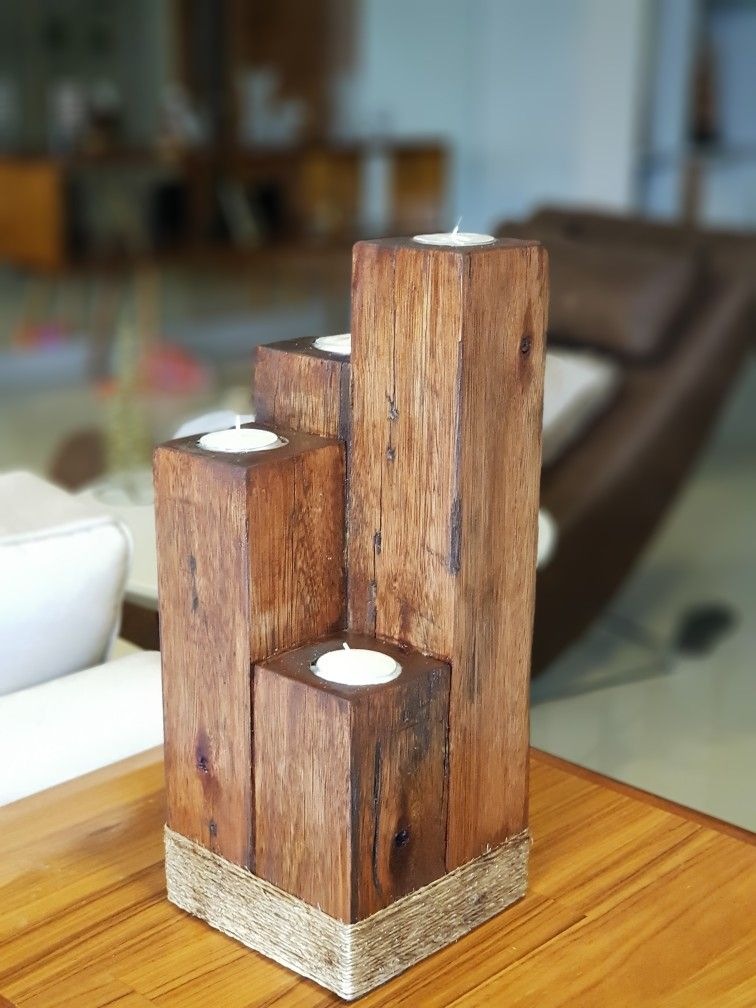 Pin By Joe Churchin On Madeira Diy Wooden Projects Christmas Wood Crafts Wooden Candle Holders