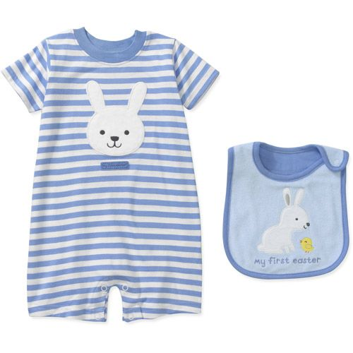 Child of mine by carters newborn boy easter bunny bodysuit and bib child of mine by carters newborn boy easter bunny bodysuit and bib gift set baby negle Images