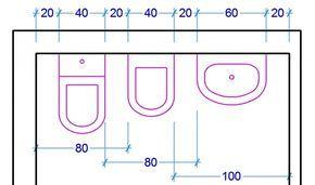 ingombri sanitari bagno | tech | Pinterest | Bathroom layout, Toilet ...