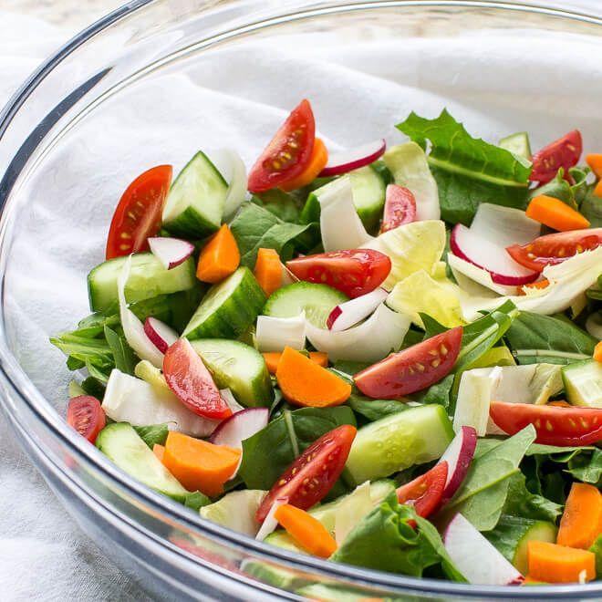 Easy Garden Salad Recipe Garden Salad Recipe Healthy Salad