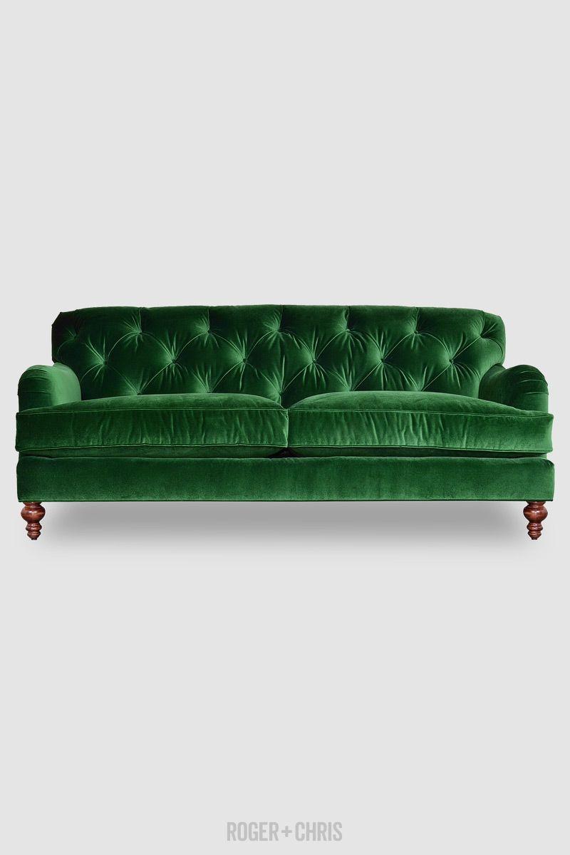 Green Velvet Sofa Green Velvet Tufted Sofa A Brand New Classic
