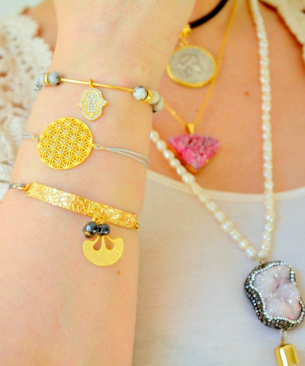 Greek medallion Necklace, Vintage Roman Coin Jewelry, Flower Life Bracelet, Miriam Hand Bangle, Pink Drusy Antique Roman Disk Coin Choker