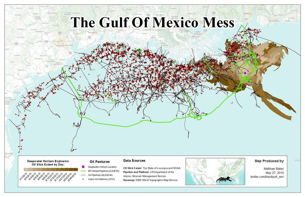 Have you seen this map of Gulf Coast pipelines and 3,000 oil ... Map Of Oil Rigs In The Gulf Mexico on ports in gulf of mexico map, ships in gulf of mexico map, buoys in gulf of mexico map,