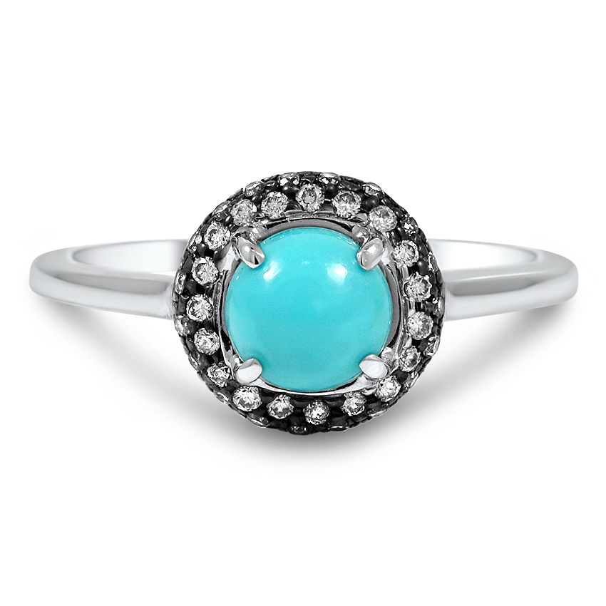 Modern Turquoise Vintage Ring | Adelphie | Brilliant Earth