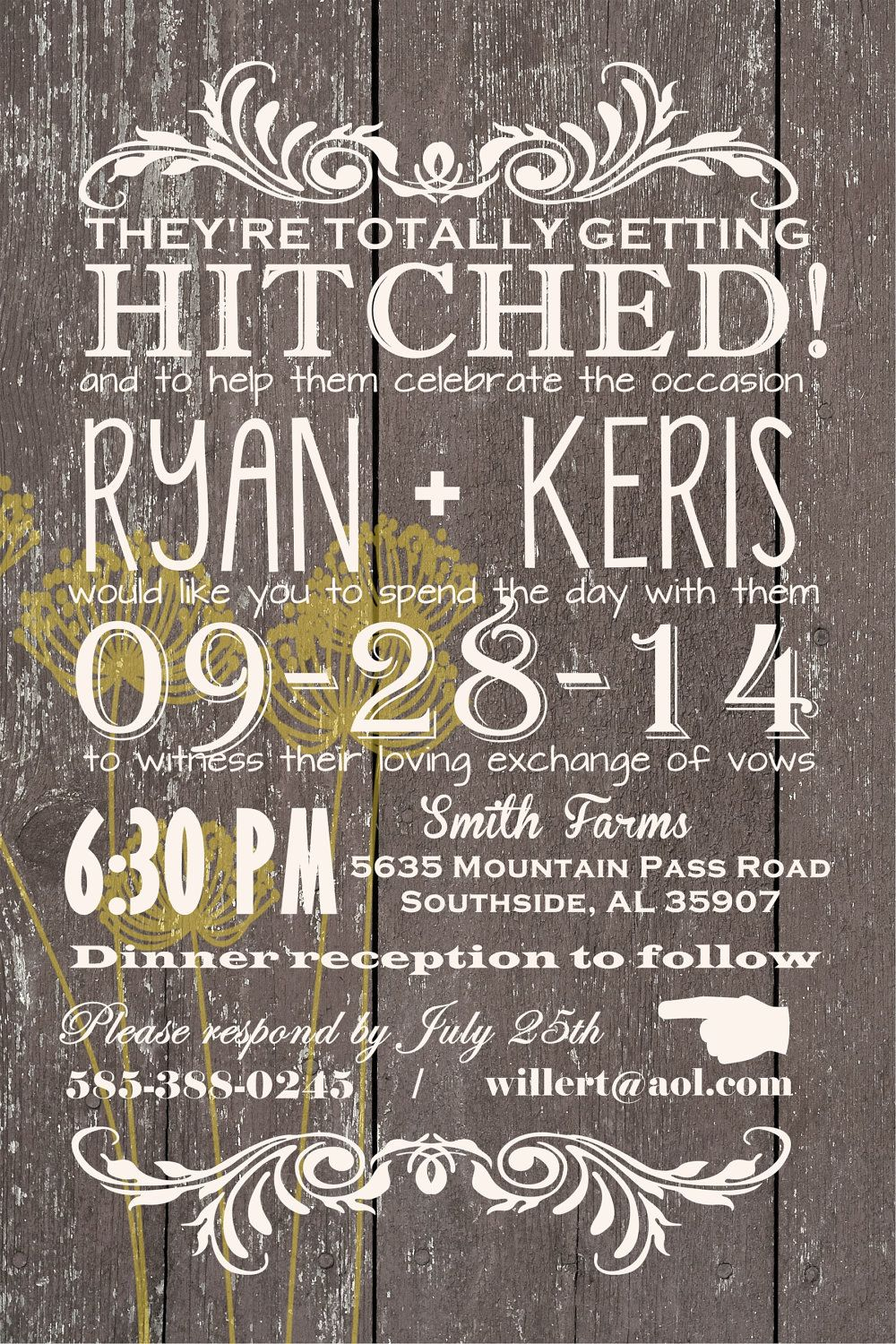 Custom Western Wedding Invitation By Joyinvitations On Etsy 14399