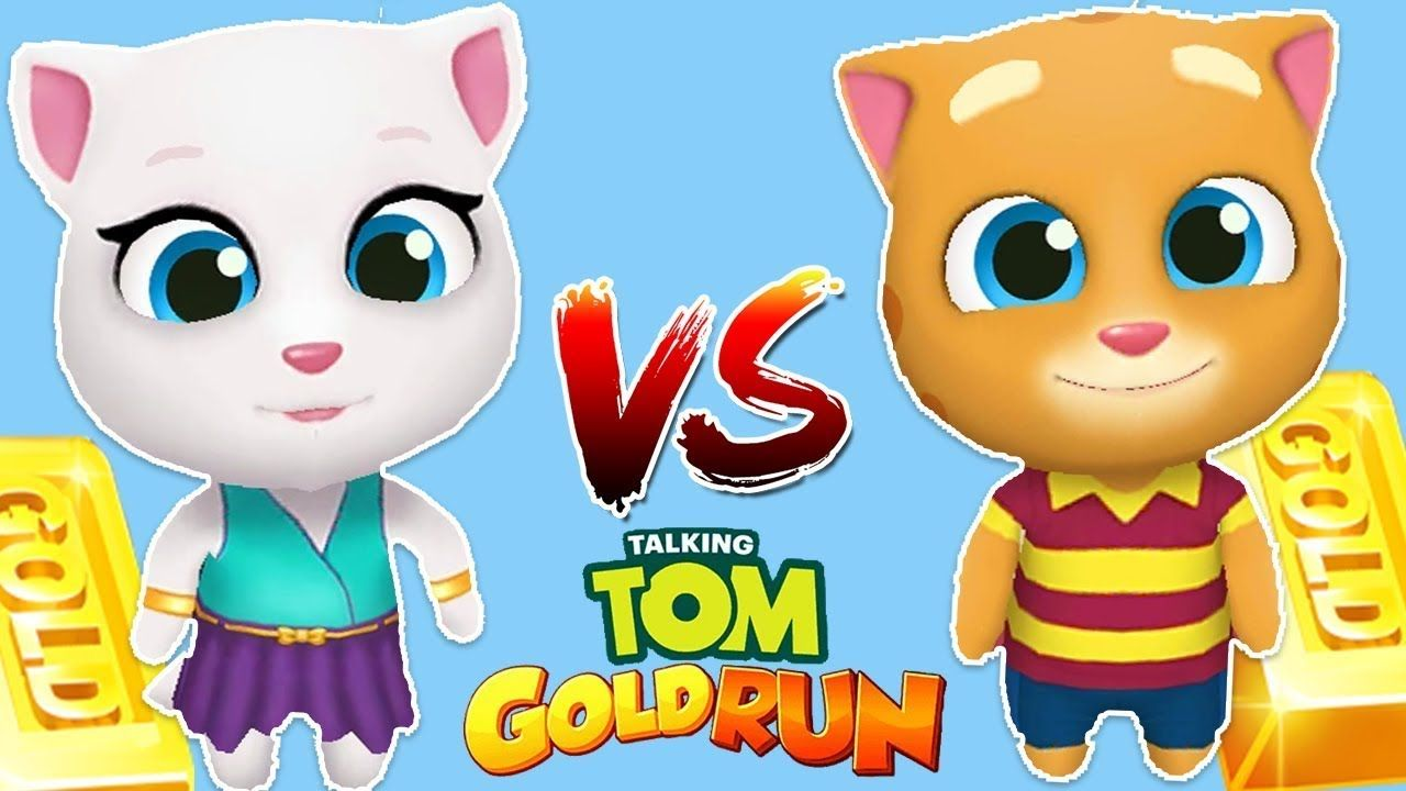 talking Tom Gold run with Angela and Ginger gameplay 2018