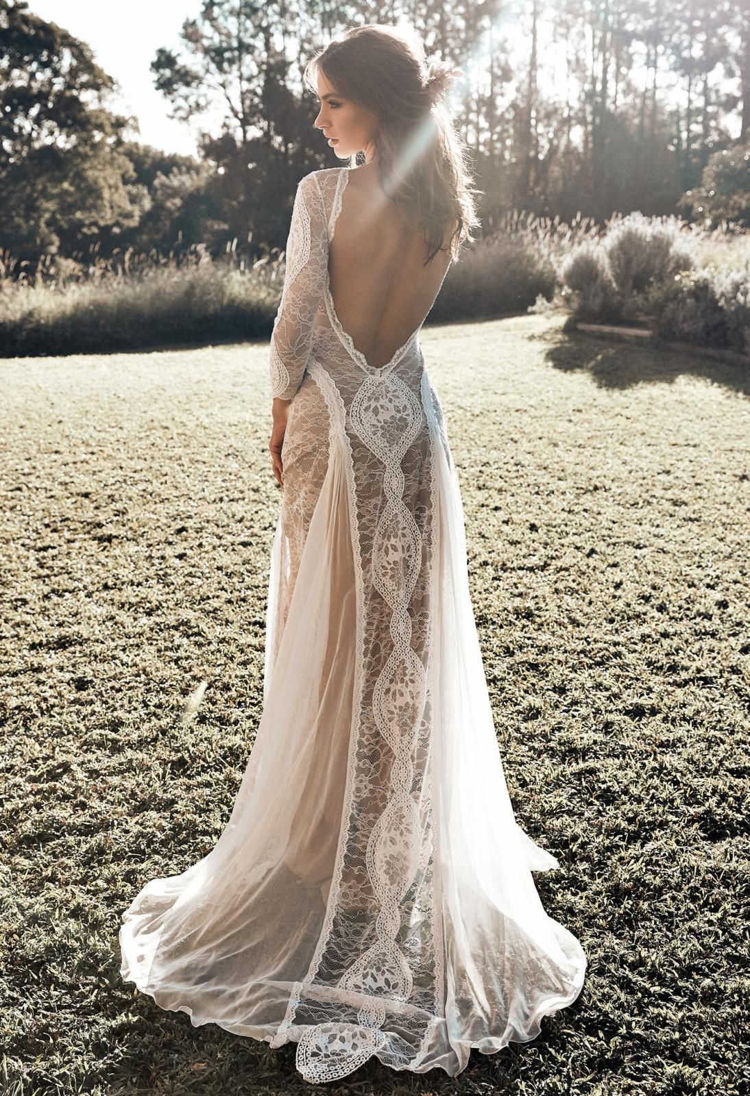 With A Unique Combination Of French And Japanese Lace Paired With A Flattering Fit Long Sleeve Wedding Dress Boho Beach Wedding Dress Boho Beach Wedding Dress