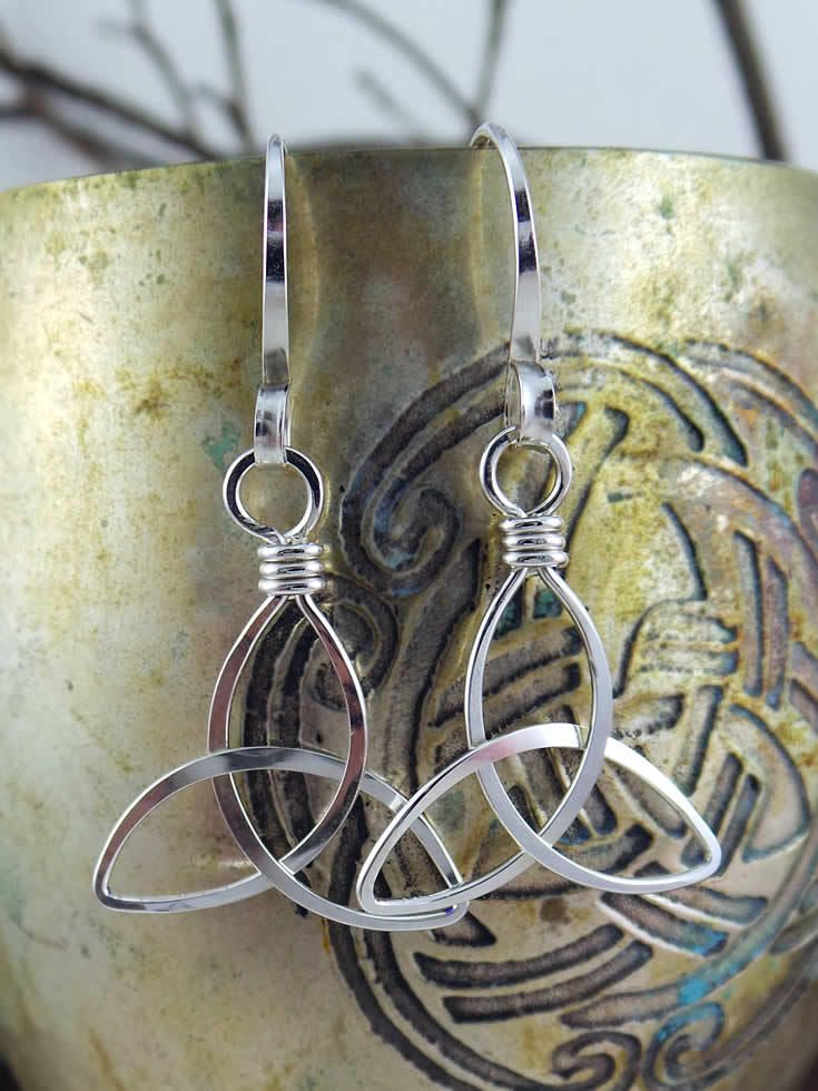The Wired Knot - Trinity Knot Earrings, $20.00 (http://thewiredknot ...