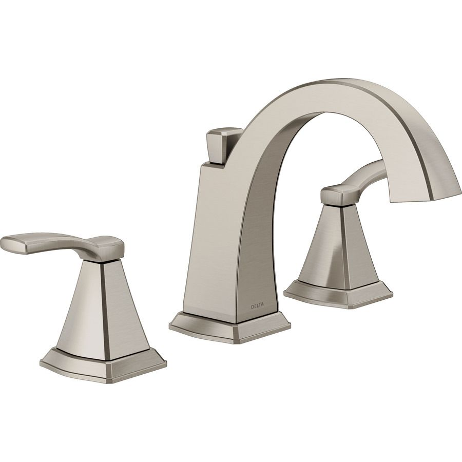 Delta Flynn Brushed Nickel 2 Handle Widespread Watersense Bathroom Sink Faucet With Drain Lowes Com In 2020 Sink Faucets Bathroom Faucets Brushed Nickel Bathroom Sink Faucets [ 900 x 900 Pixel ]