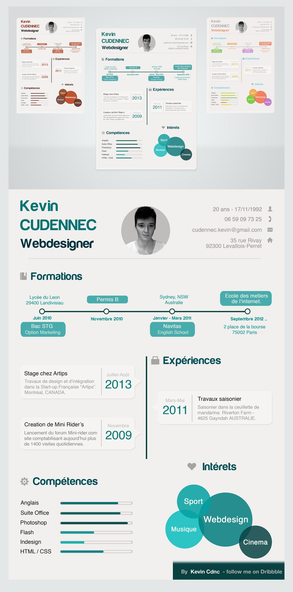 Cool 15+ Best Free Resume / CV Templates PSD. Professionally ...